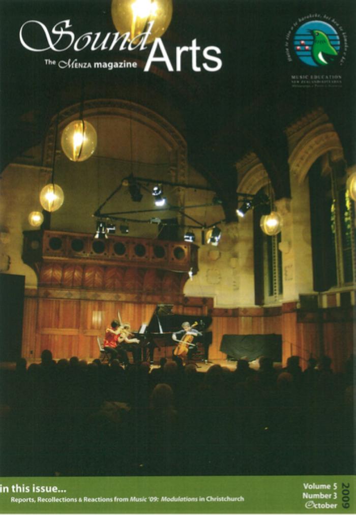 SOUND ARTS Volume 5 Number 3, October 2009