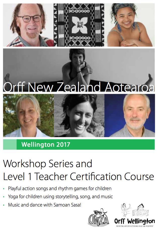 Orff : Level 1 certification & Workshops 2017