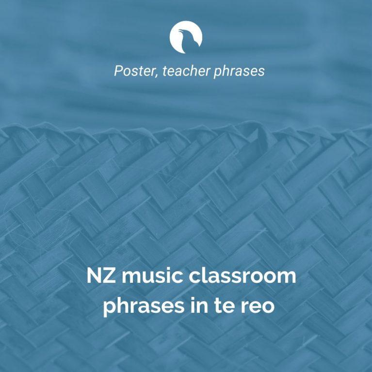 NZ Music classroom in Te Reo