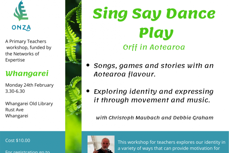 Sing, Say, Dance And Play: Orff In Aotearoa Whangarei 2020