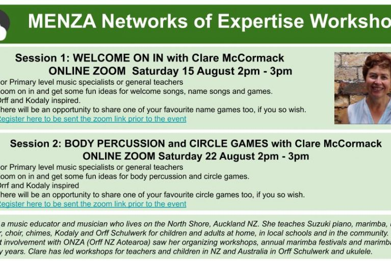 BODY PERCUSSION and CIRCLE GAMES with Clare McCormack