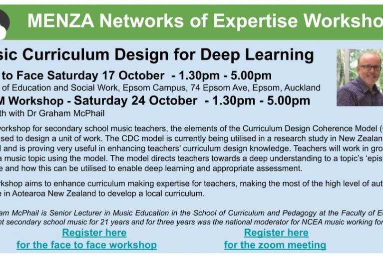 Music Curriculum Design for Deep Learning (Zoom Version)