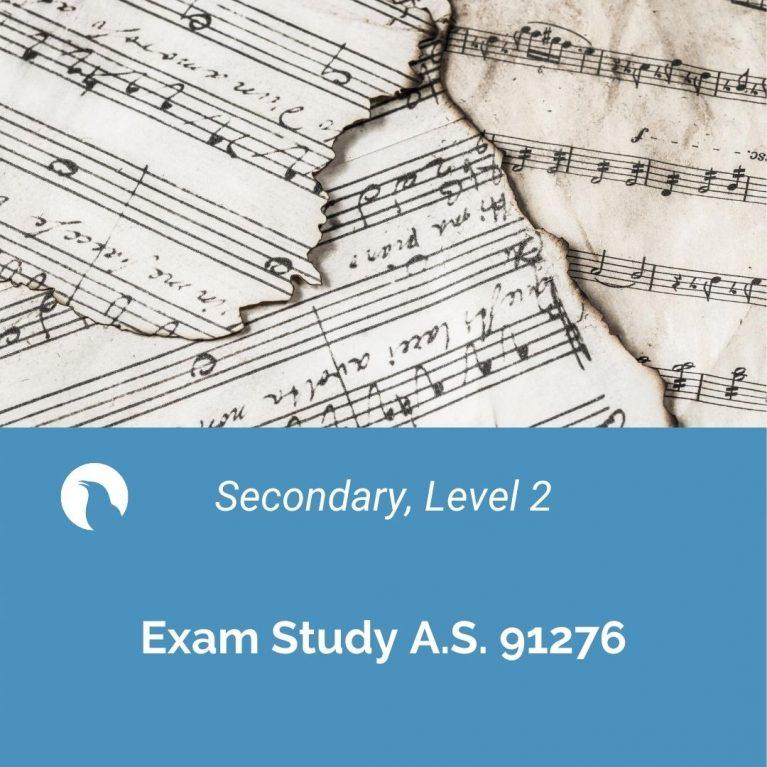 Exam Study – Level 2 A.S. 91276
