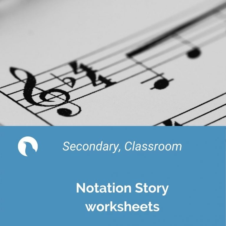 Notation story worksheets