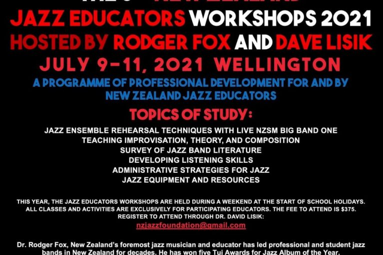 8th New Zealand Jazz Educators Workshops 2021