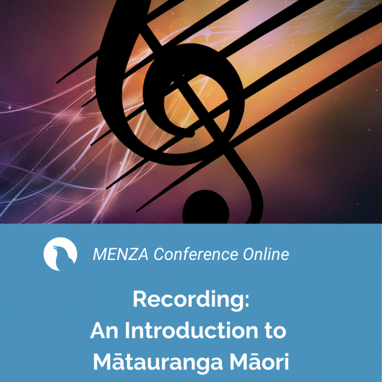 MENZA Conference Online: An Introduction to Mātauranga Māori