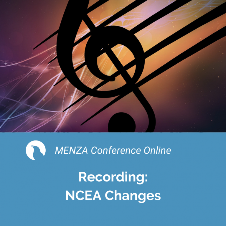 MENZA Conference Online: NCEA Changes